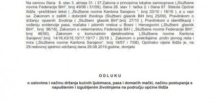 Obavještenje od općine Ilidža